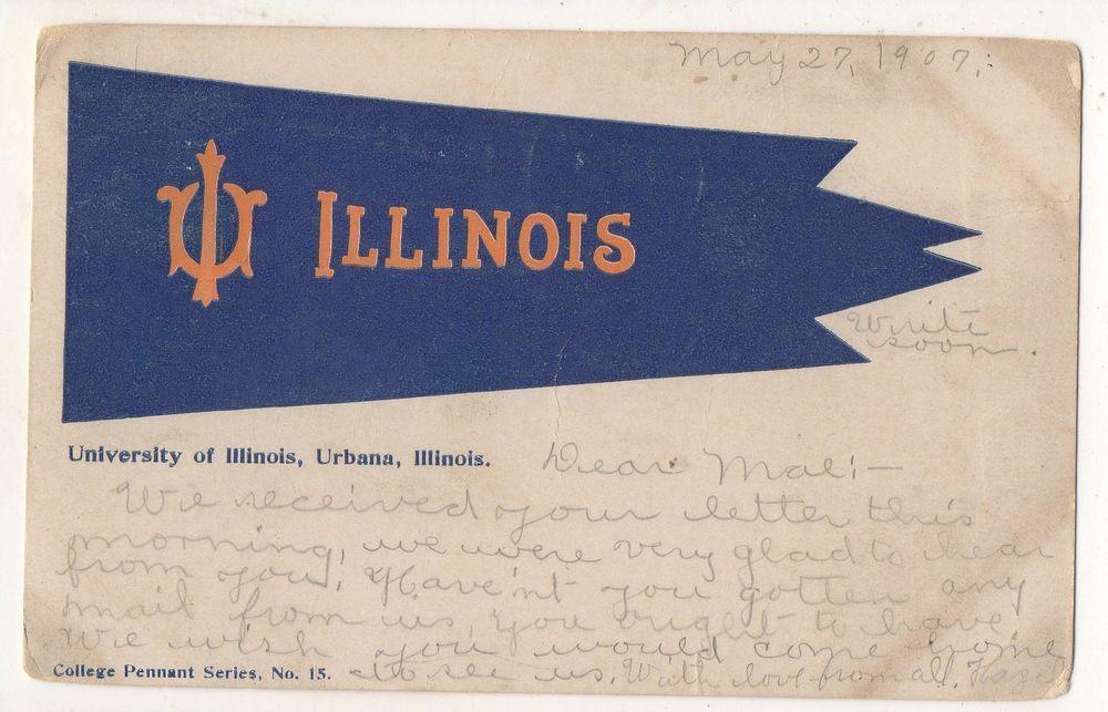 University of Illinois Champaign-Urbana Vintage Postcard