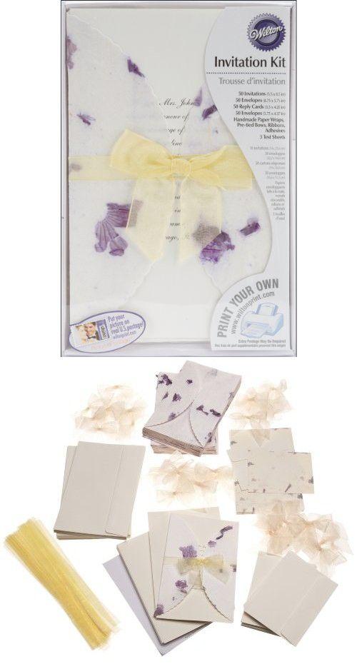 wilton pressed floral lavender invitation kit - Wilton Wedding Invitation Kits