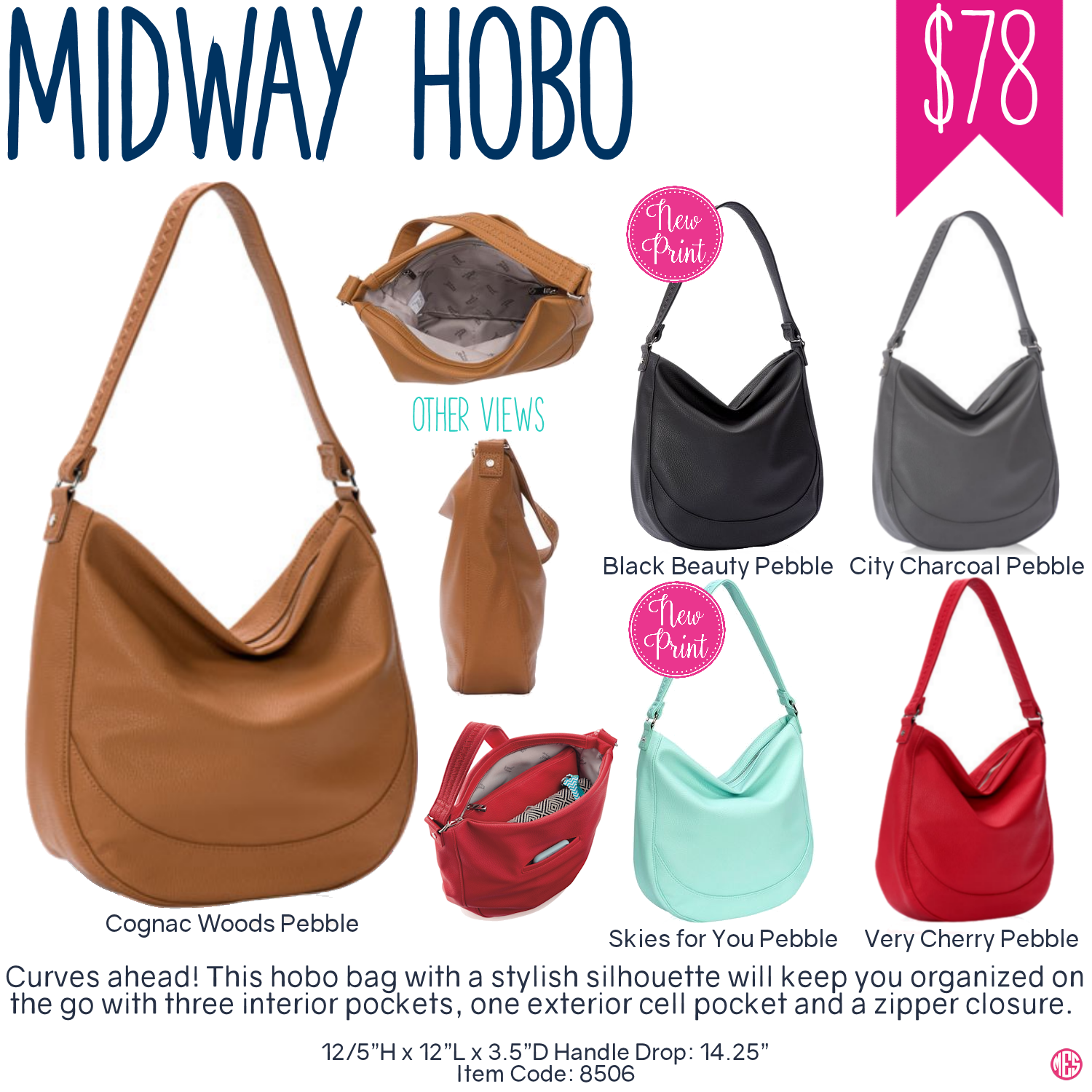 Thirty-One Midway Hobo Purse - Spring/Summer 2017 | Thirty-One ...