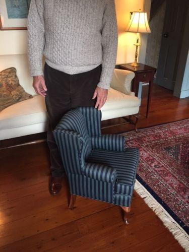 Childu0027s Antique Wingback Chair, Circa 1970