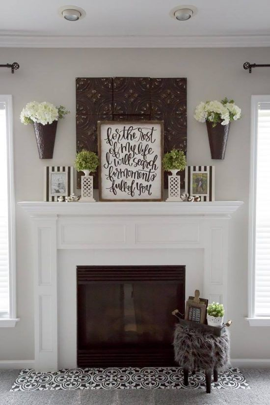 Modernize Your Farmhouse Fireplace With A Stencil Diy Decorating