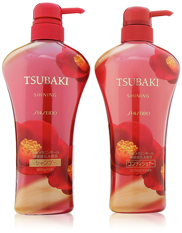 Shiseido Tsubaki Shining Camellia Oil Ex Hair Care Set Shampoo And Conditioner 2 X 550ml Pumps To View Further Visit Now Shampoo Camellia Oil Hair Care