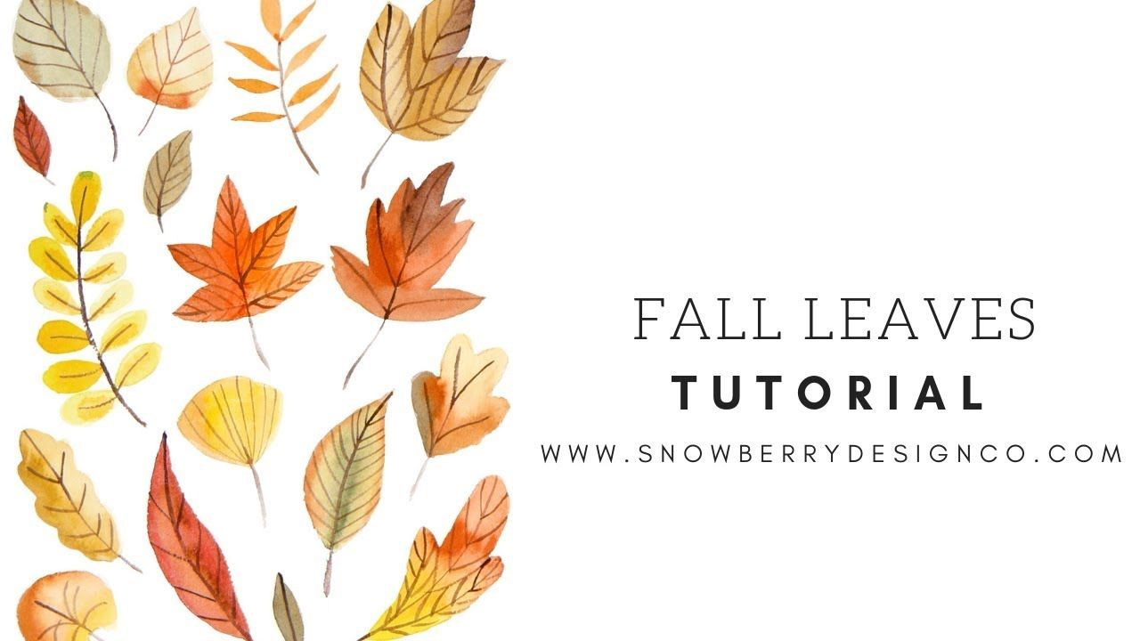 How To Paint Fall Leaves Beginner Watercolor Tutorial With