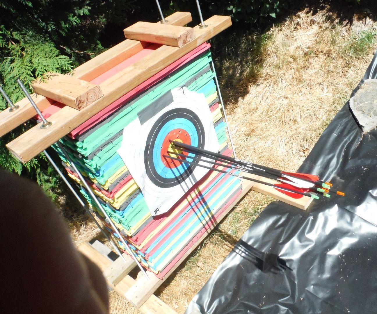 How to make an archery target cake