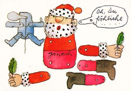 janosch weihnachtspostkarte weihnachts hampelmann zum. Black Bedroom Furniture Sets. Home Design Ideas