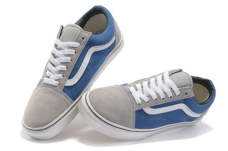 dd801e5b5e Vans Suede N Canvas Old Skool Blue-Grey  Vans