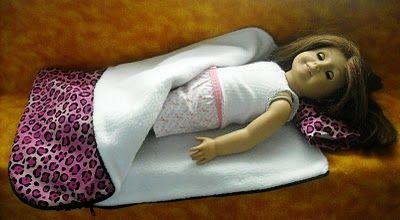 DIY Sleeping Bag for American Girl Doll