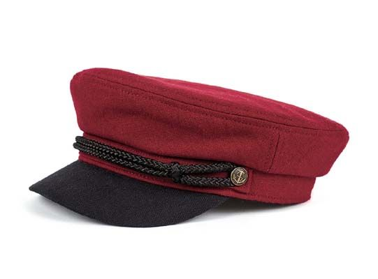 5322e7ce5b729 Fiddler Hat by Brixton- Burgundy