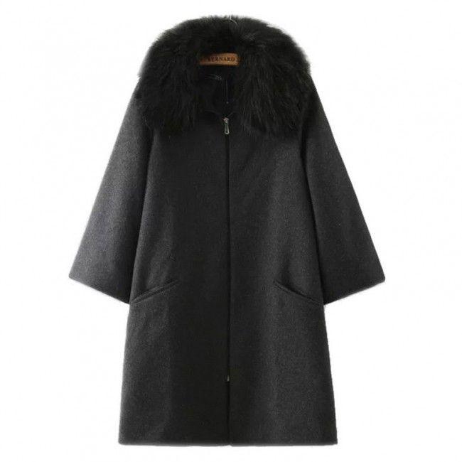 Faux Fur Collar Woolen Coat