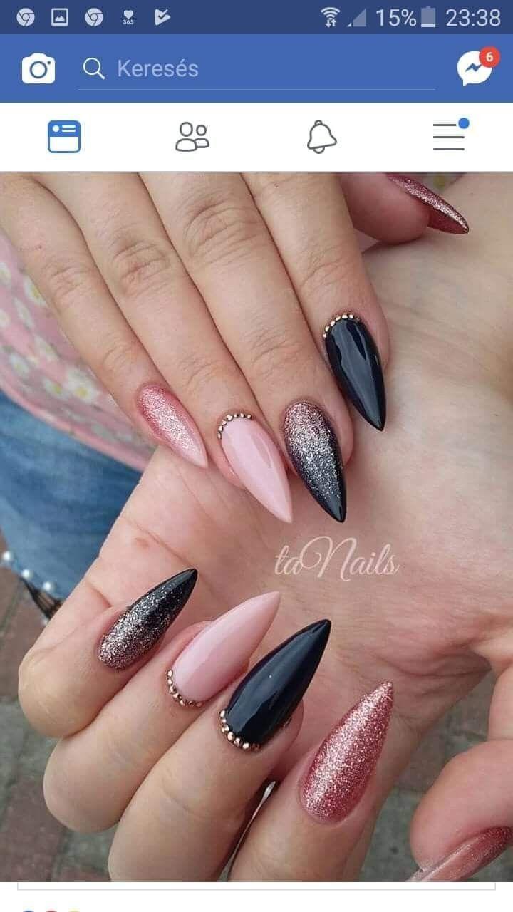So schön. Viel zu spitz für mich, aber so hübsch #nailsshape