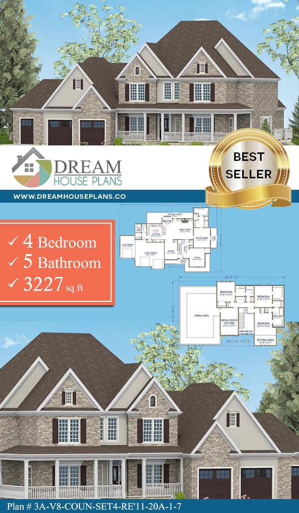 Dream House Plans Best Traditional 4 Bedroom
