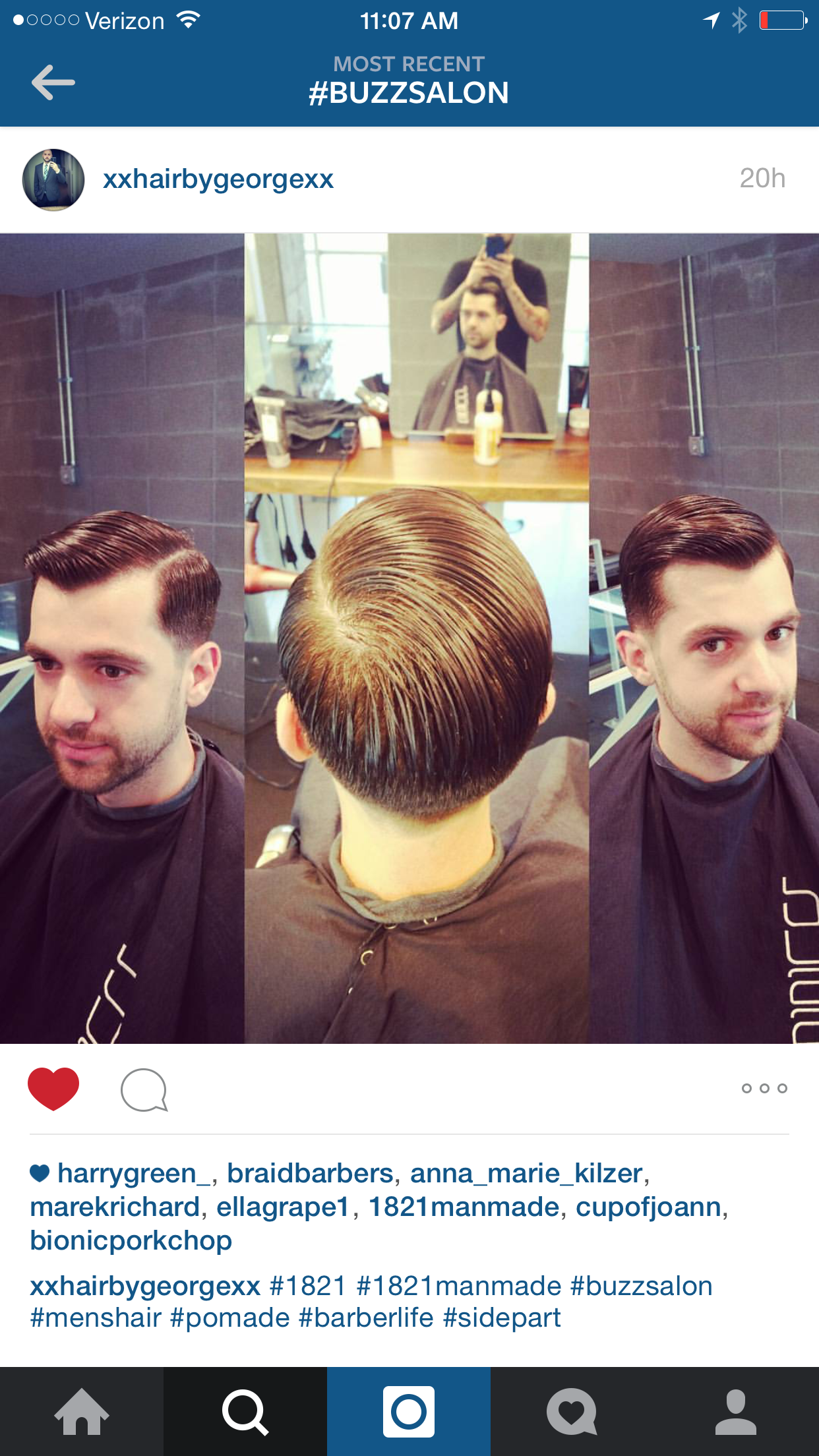 Hair By Buzz Stylist George Barbers Menshair Buzzsalon Iowacity