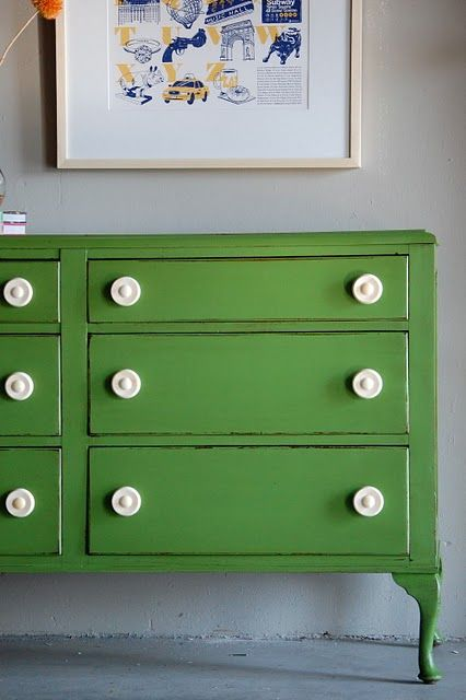 Fun color dresser for breezeway..........would be great for storing hats, gloves, etc.