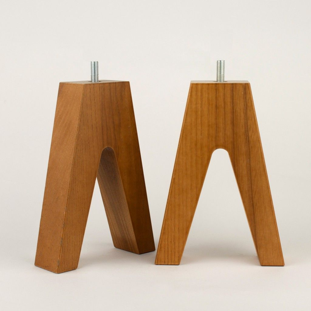 Furniture Leg In Ash Wood Hillevi 170 Furniture Legs Wood