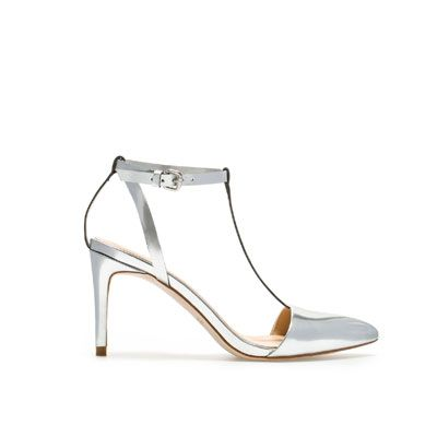 0e90ac923ea LAMINATED HIGH-HEEL SANDALS WITH ANKLE STRAPS from Zara