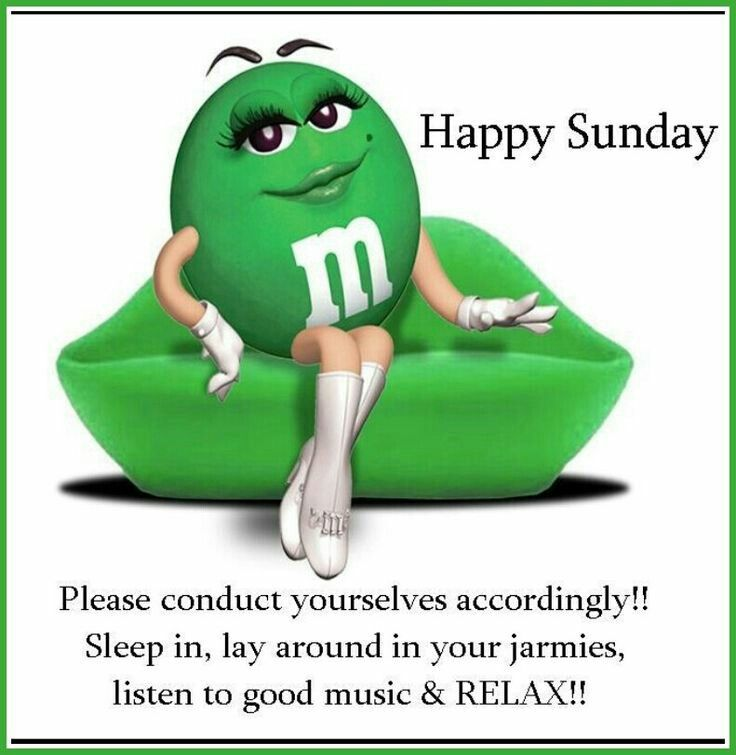 Happy Sunday Greetings Green Mms Green Green Colors