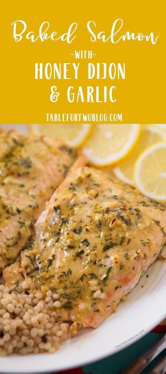 Photo of Baked Salmon with Honey Dijon and Garlic – Easy Salmon Recipe