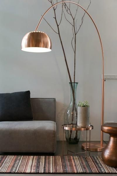 Metal Bow Copper Lamp; at Zuvier