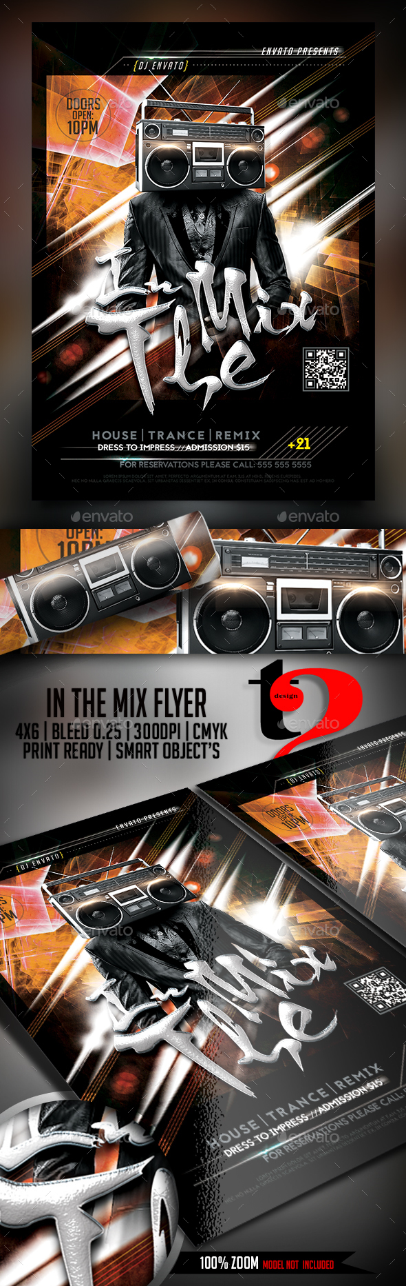 In The Mix Flyer Template | Flyer template, Event flyers and Graphics
