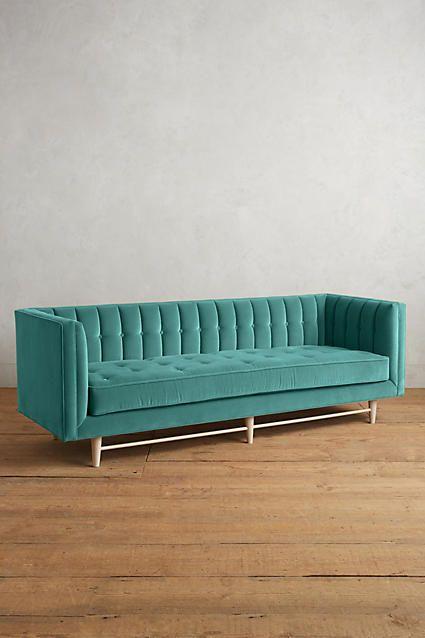 Velvet Marryn Sofa Furniture Family Room Furniture Green Sofa
