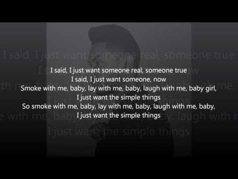 Miguel - Simple Things (Lyrics) - YouTube