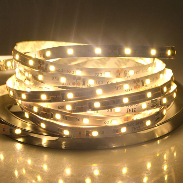 5m Smd 2835 300 Led White Warm White Led Strip Flexible Light Power Supply Connector Dc 12v Led Strip From Lights Lighting On Banggood Com Strip Lighting Led Christmas Lights