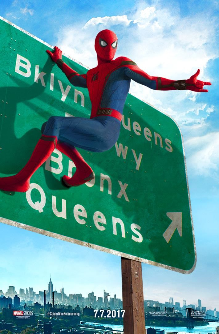 Following two posters yesterday, Sony Pictures and Marvel Studios have released a third Spider-Man: Homecoming poster! The film opens on July 7.