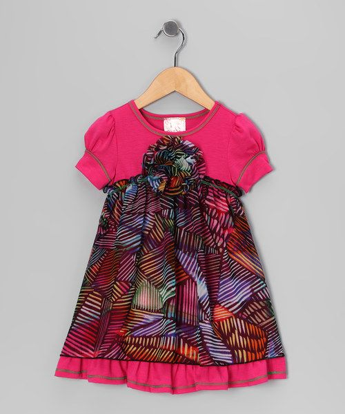 This darling dress is the perfect foundation for a playground ensemble! The modern wave-stripe pattern and puff-sleeves really make this piece sing!It pairs easily with tights or fashionable flatsfor a nifty-quick getup that leaves a little one dressed to impress.100% polyesterContrast: 60% polyester / 35% rayon / 5% spandex