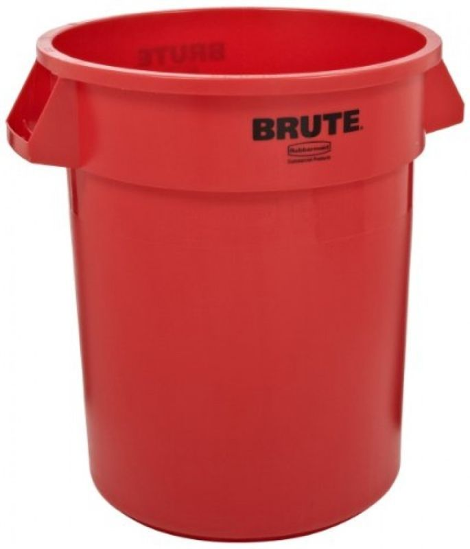 Rubbermaid Commercial Fg261000red Brute Lldpe 10gallon Trash Can Without Lid Trash Can Rubbermaid Commercial Products Rubbermaid