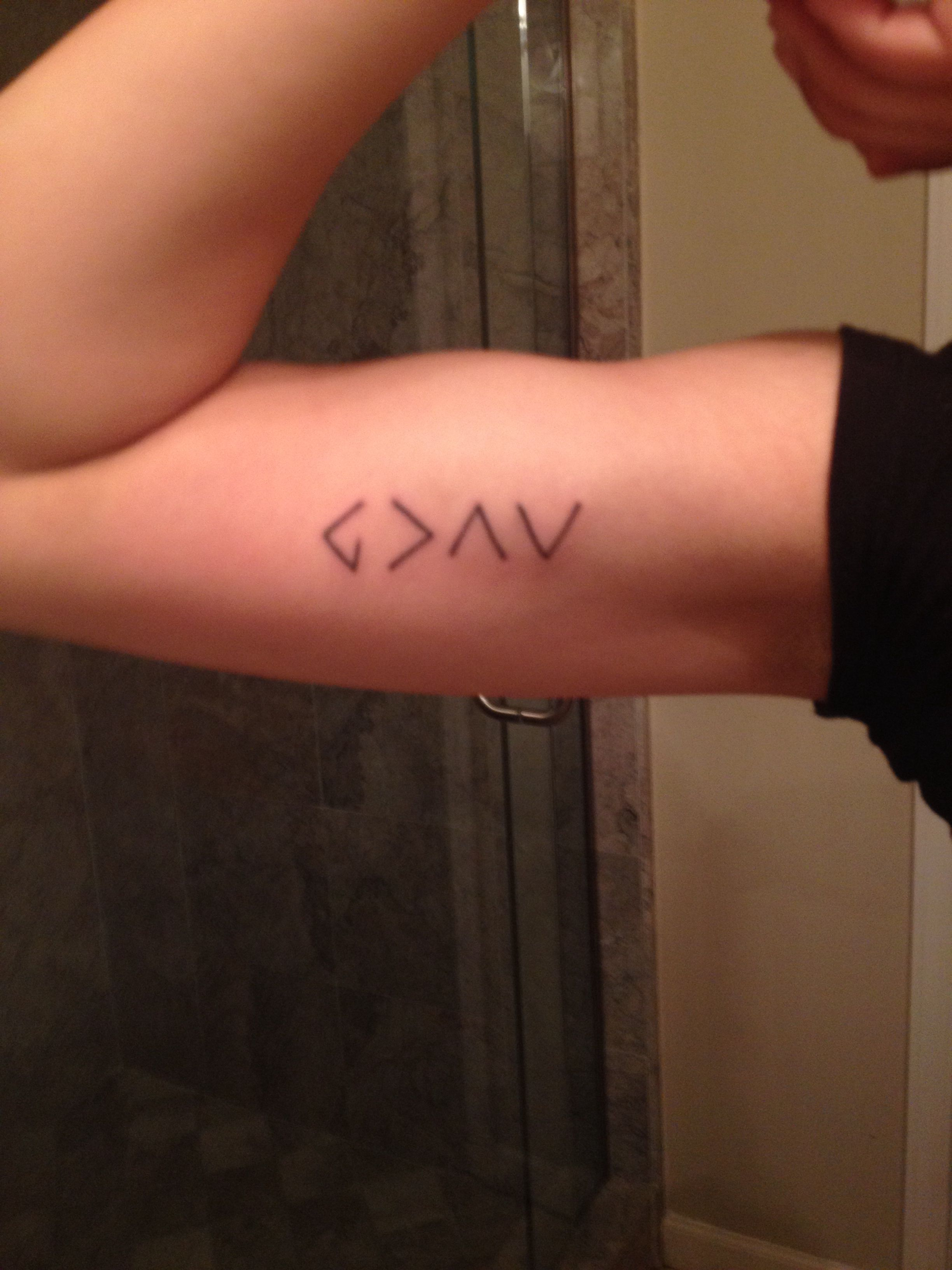God Is Greater Than My Ups And Downs Cute Tattoos Tattoos Tattoos And Piercings
