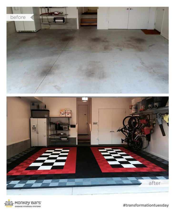 Amazing before and after Swisstrax modular floor from Monkey Bar Storage. Swisst...,  Amazing before and after Swisstrax modular floor from Monkey Bar Storage. Swisst...,