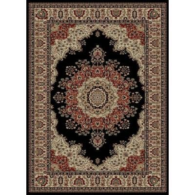 Tayse Rugs Sensation Black 8 ft. 9 in. x 12 ft. 3 in. Traditional Area Rug - 4703 Black 9x12 - The Home Depot