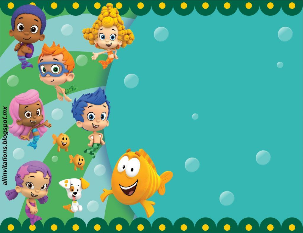 Free Printable Bubble Guppies Baby Shower Invitation Ideas Baby Sho Bubble Guppies Invitations Bubble Guppies Birthday Free Printable Baby Shower Invitations