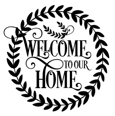 Welcome To Our Home Wreath Vinyl Decal Sticker Wall Room Door Home Decor Choice #fashion #home #garden #homedcor #decalsstickersvinylart (ebay link)