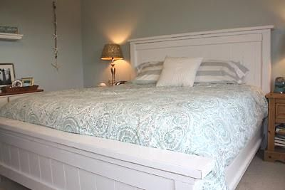 Free plans for a king farmhouse bed