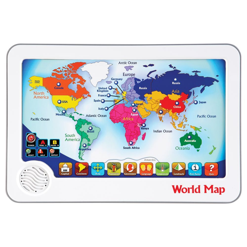 Rs world map interactive touch pad toy national geographic store rs world map interactive touch pad toy national geographic store gumiabroncs Image collections