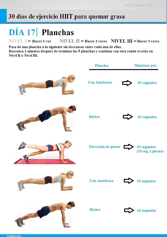 Dia 17 de 30 dias de ejercicios para quemar grasa for Gimnasio cardio pilates