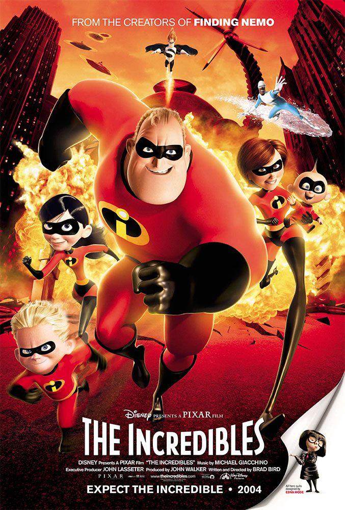 Tbt See All 14 Original Pixar Animation Movie Posters Kid Movies The Incredibles 2004 Kids Movies