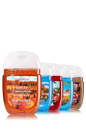 Autumn Adventure 5-Pack PocketBac Sanitizers - Includes Sweet Cinnamon Pumpkin, Fall Lakeside Breeze, Sunlight and Apple Trees, Crisp Morning Air & Cozy Vanilla Cream
