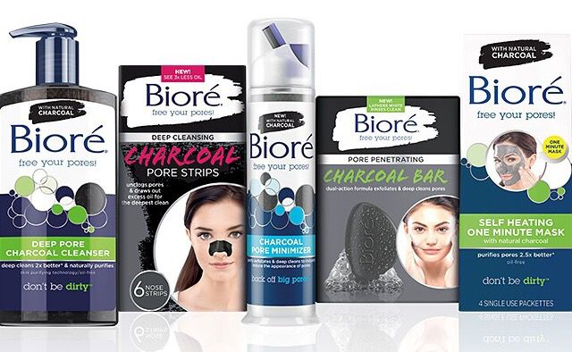 Biore Charcoal Line With Images Deep Pore Cleanser Biore