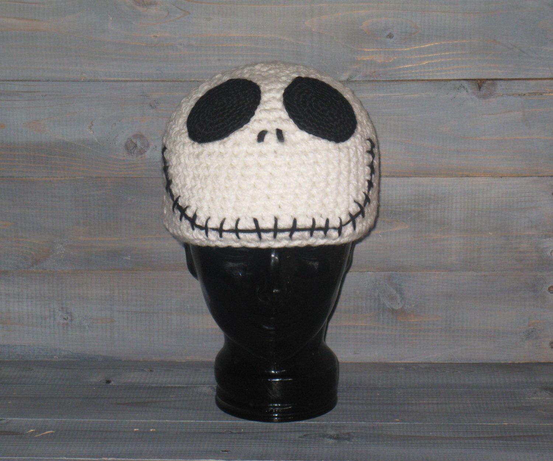 c205c670b473d Adult Jack Skellington Nightmare Before Christmas crochet hat by WICKEDWEBZ  on Etsy https