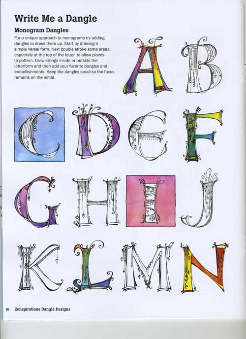 letters with designs in them