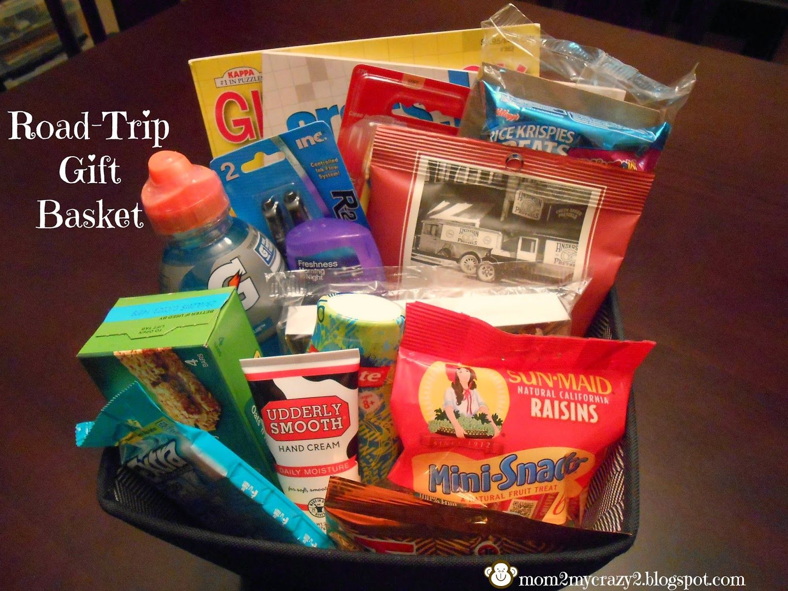 Road Trip Gift Basket. Need to remember for Florida!   Military ...