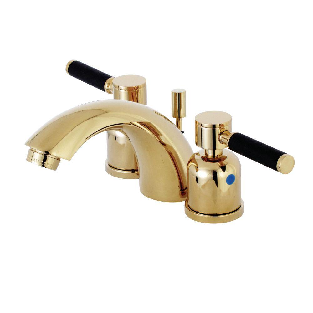 KB8952DKL Mini-Widespread Lavatory Faucet, Polished Brass | Kingston ...