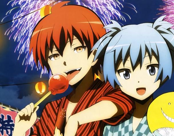Akabane Karma and Shiota Nagisa. These two are just so perfect together!!!!