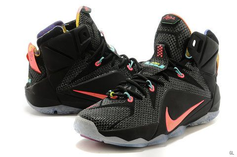 uk availability 69a64 f4903 Nike Lebron 12 Women Black Red