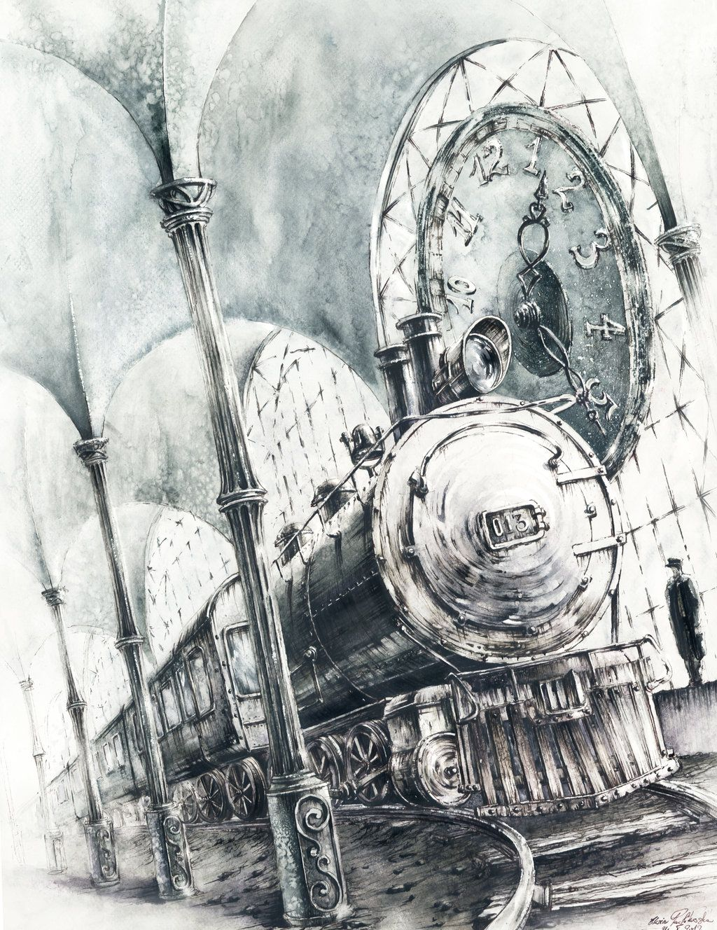 Train by ~GrimDreamArt on deviantART