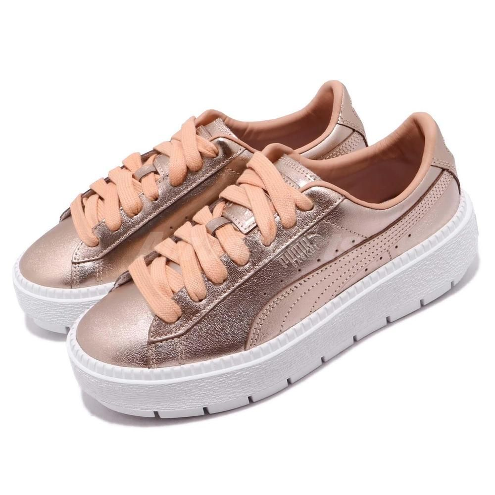 Puma Basket Platform Trace Luxe Dusty Coral White Women