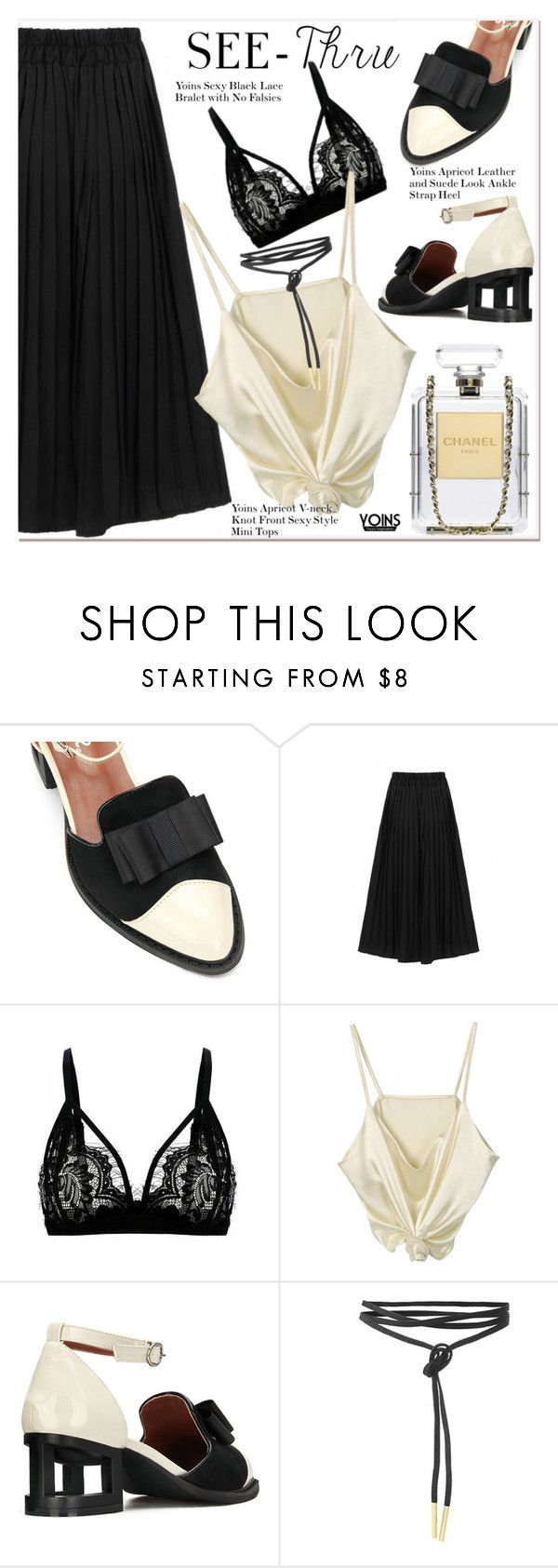 """""""It's All Clear Now"""" by paculi ❤ liked on Polyvore featuring Chanel, clear and Seethru"""