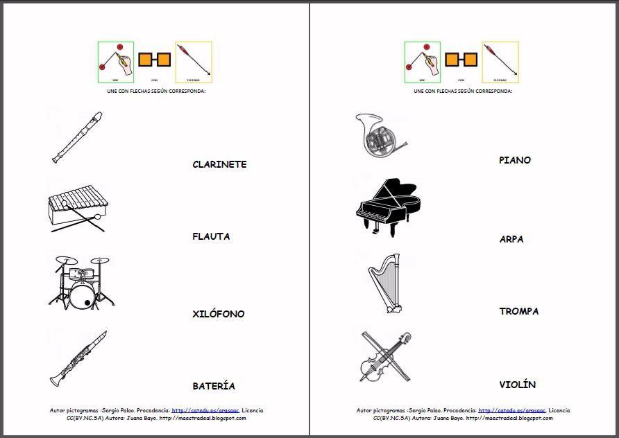MATERIALES Fichas de lectura u0026quot;Los instrumentos musicales ...